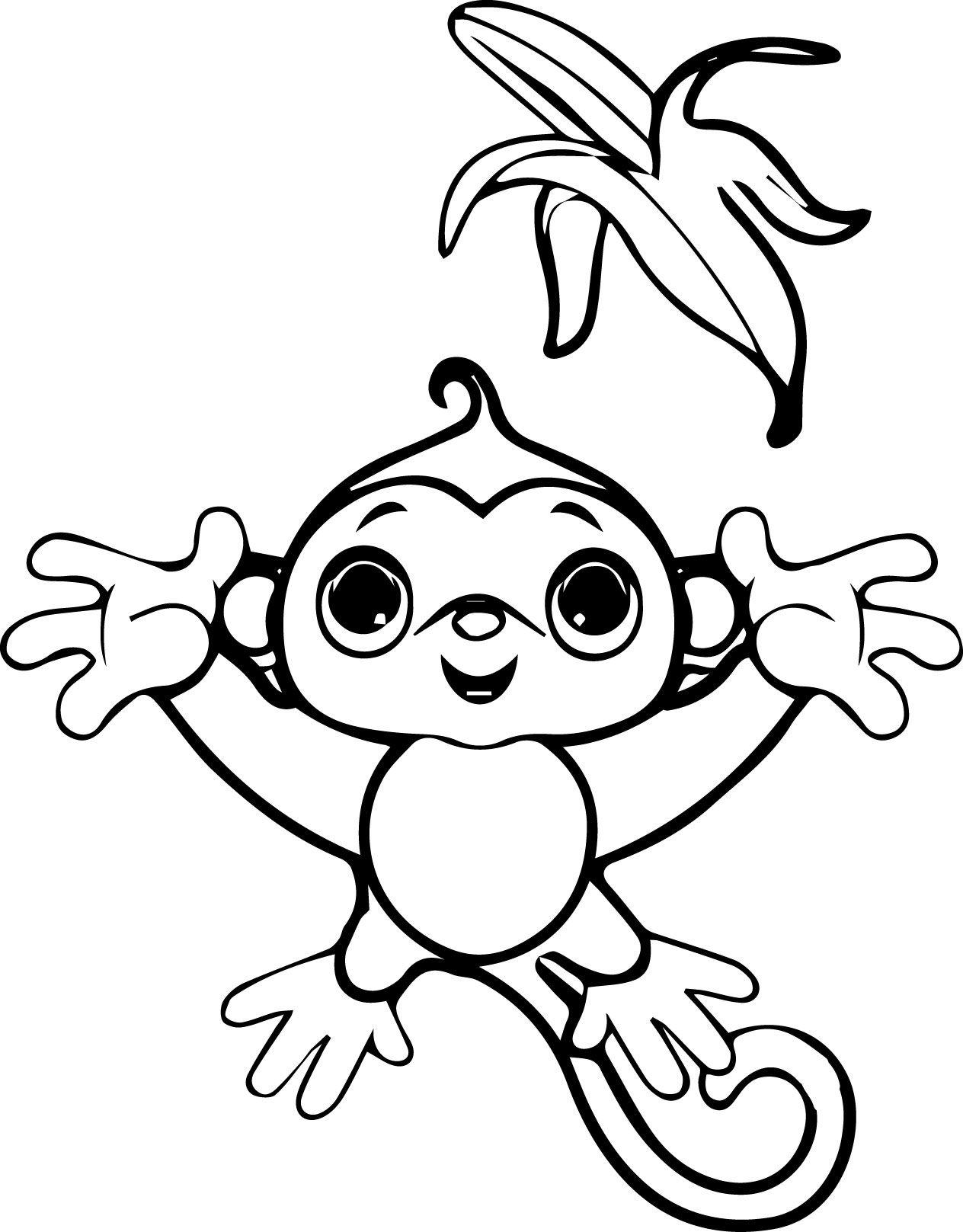 Kids Monkey Coloring Page Wecoloringpage