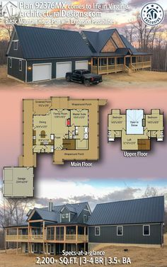 Photo of Plan 92376MX: Rustic Mountain House Plan with Expansion Possibilities