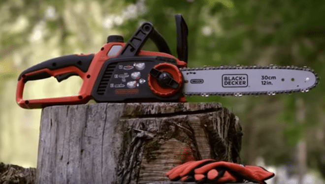 Black Decker Lcs1240 Battery Powered Chainsaw Review Chainsaw