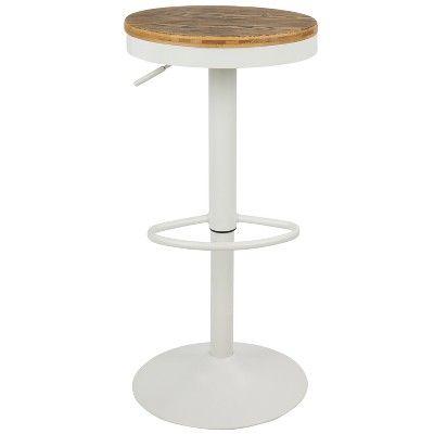 Prime Set Of 2 Dakota Industrial Adjustable Barstool With Swivel Machost Co Dining Chair Design Ideas Machostcouk