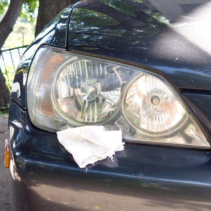 Buff headlights clean foggy headlights car cleaning