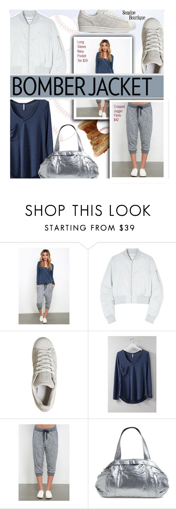 """""""Winter Style: Bomber Jackets"""" by seaside-boutique ❤ liked on Polyvore featuring Won Hundred, adidas, NIKE, women's clothing, women, female, woman, misses and juniors"""