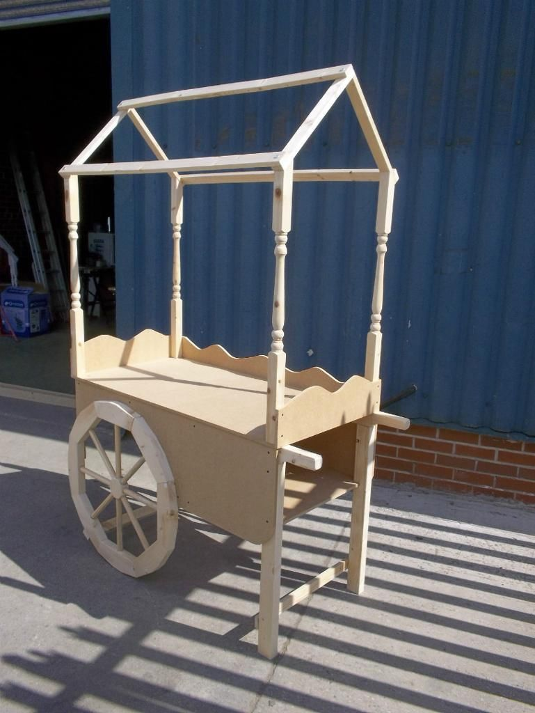 Sweet Candy Cart Brand New Solid Wooden Hand Made Fully