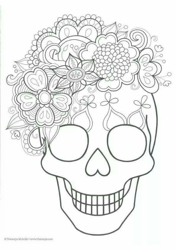 Sugar skull coloring page | Paginas para pintar | Pinterest