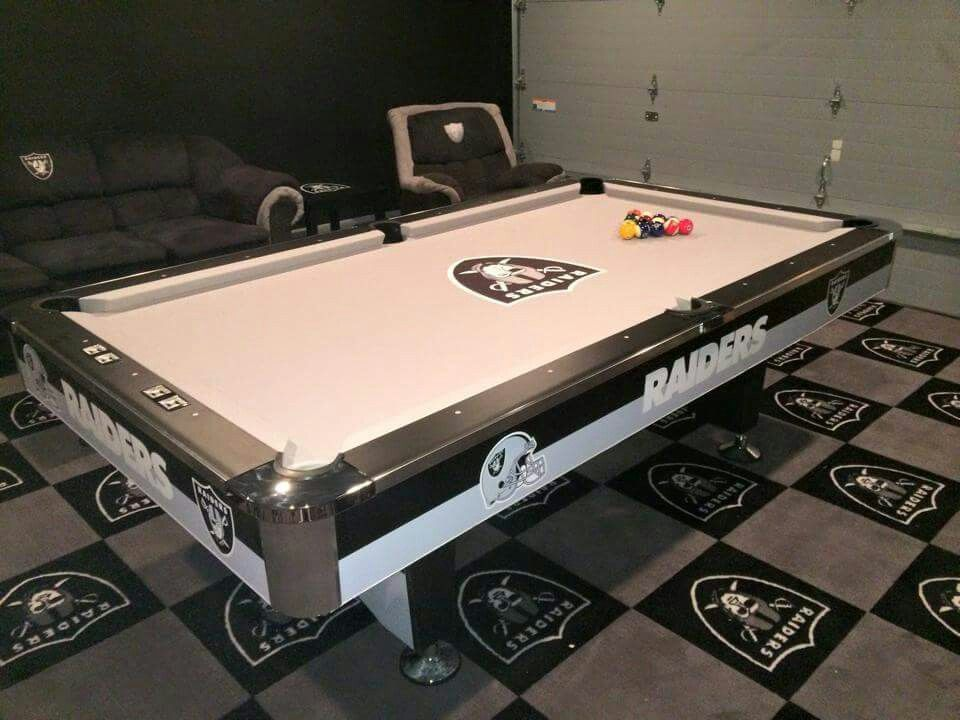 Delicieux Raider Pool Table Nfl Oakland Raiders, Raider Nation, Pool Tables, Men Cave,