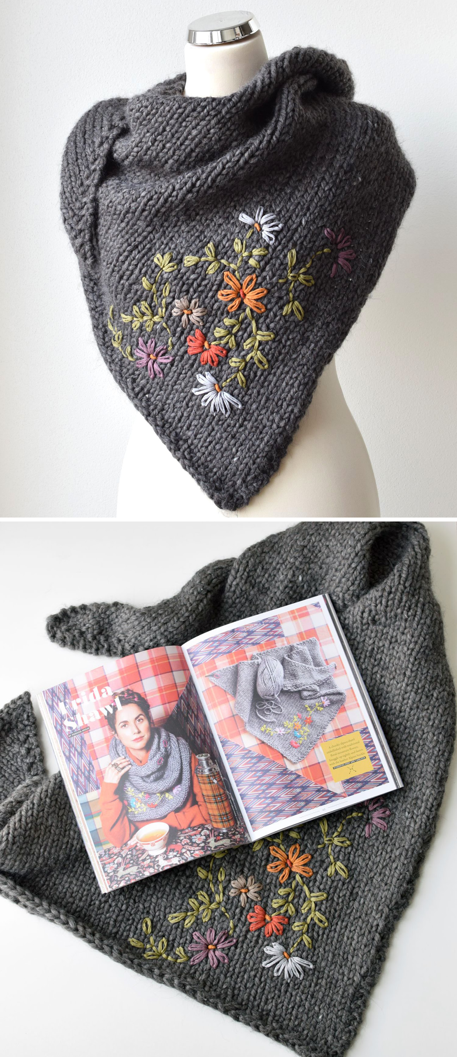 Embroidery on knit in a few easy steps  #golasdetrico