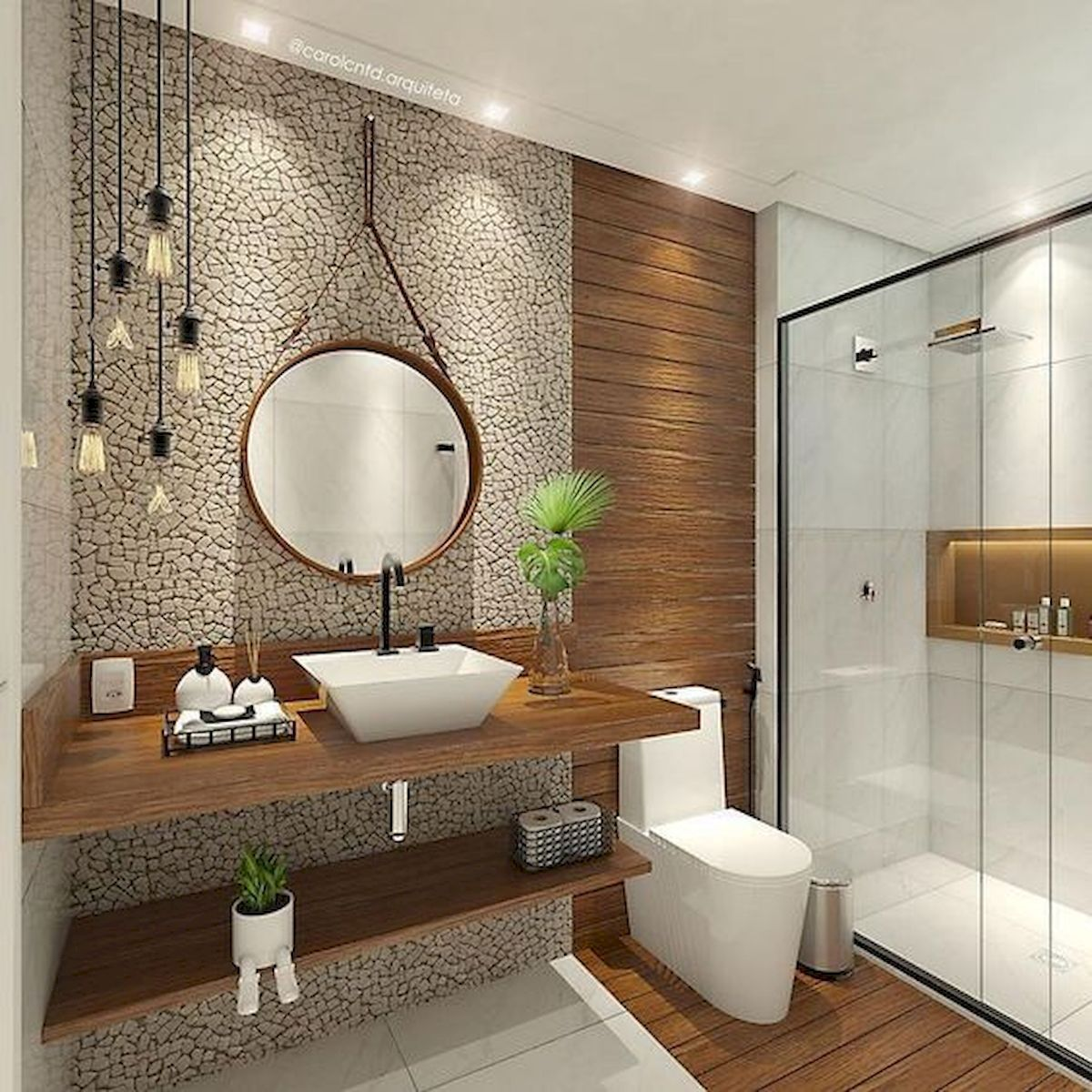 60 Elegant Small Master Bathroom Remodel Ideas (15) in ...