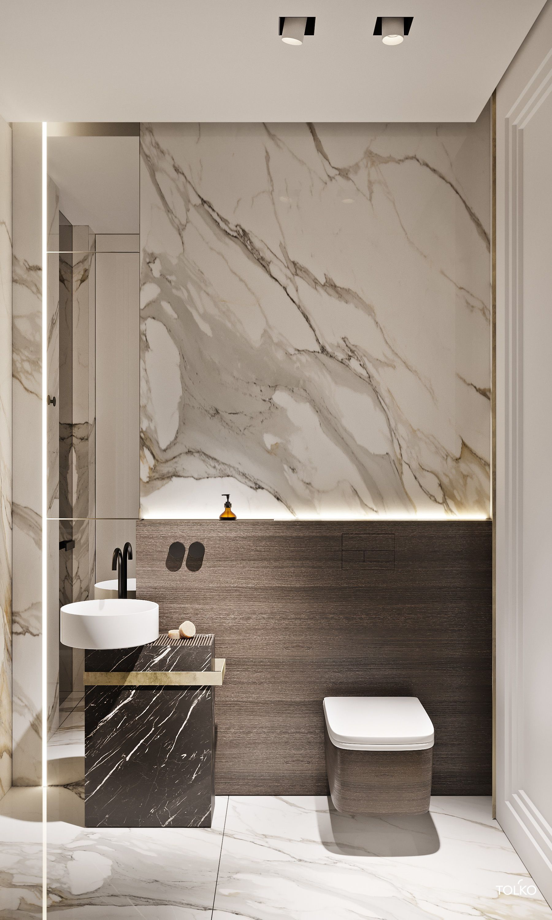 Working On A Bathroom Project We Can Help You With Some Marble Inspirations Discover More Luxury Bathroom Master Baths Guest Bathroom Design Modern Bathroom