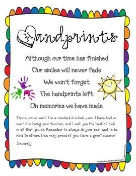 Preschool Goodbye Poems 7