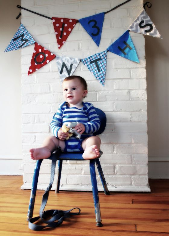 monthly baby/toddler photos with favorite things