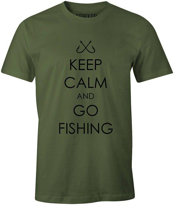 Keep Calm And Go Fishing T-Shirt Fisherman Fishing Gifts