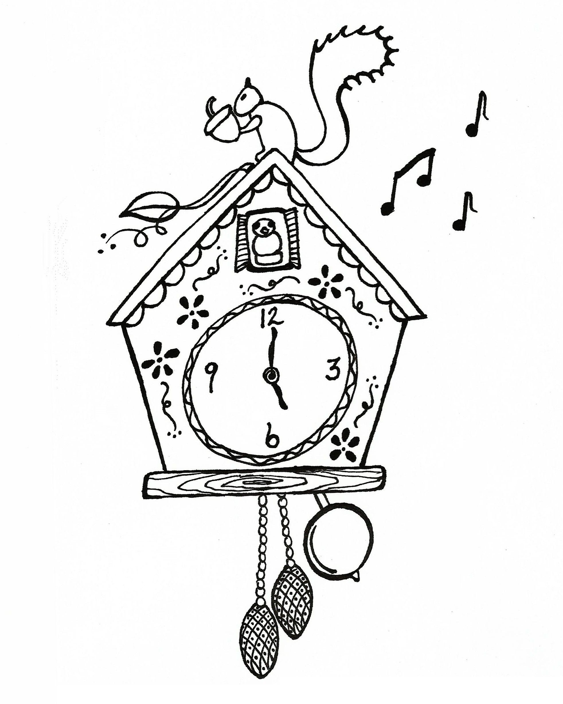 Cuckoo Clock Print Color Enjoy Xoxo Christen Noelle