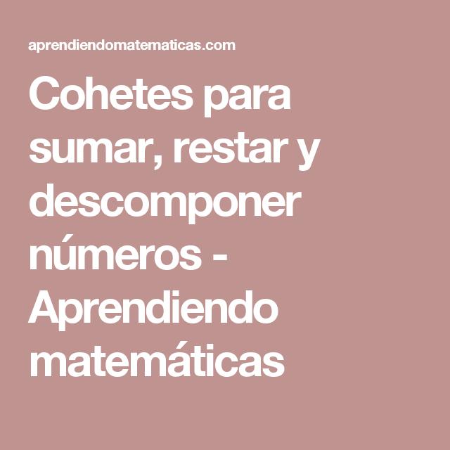 Fantástico Hojas De Trabajo De Matemáticas De Cohetes Cresta ...