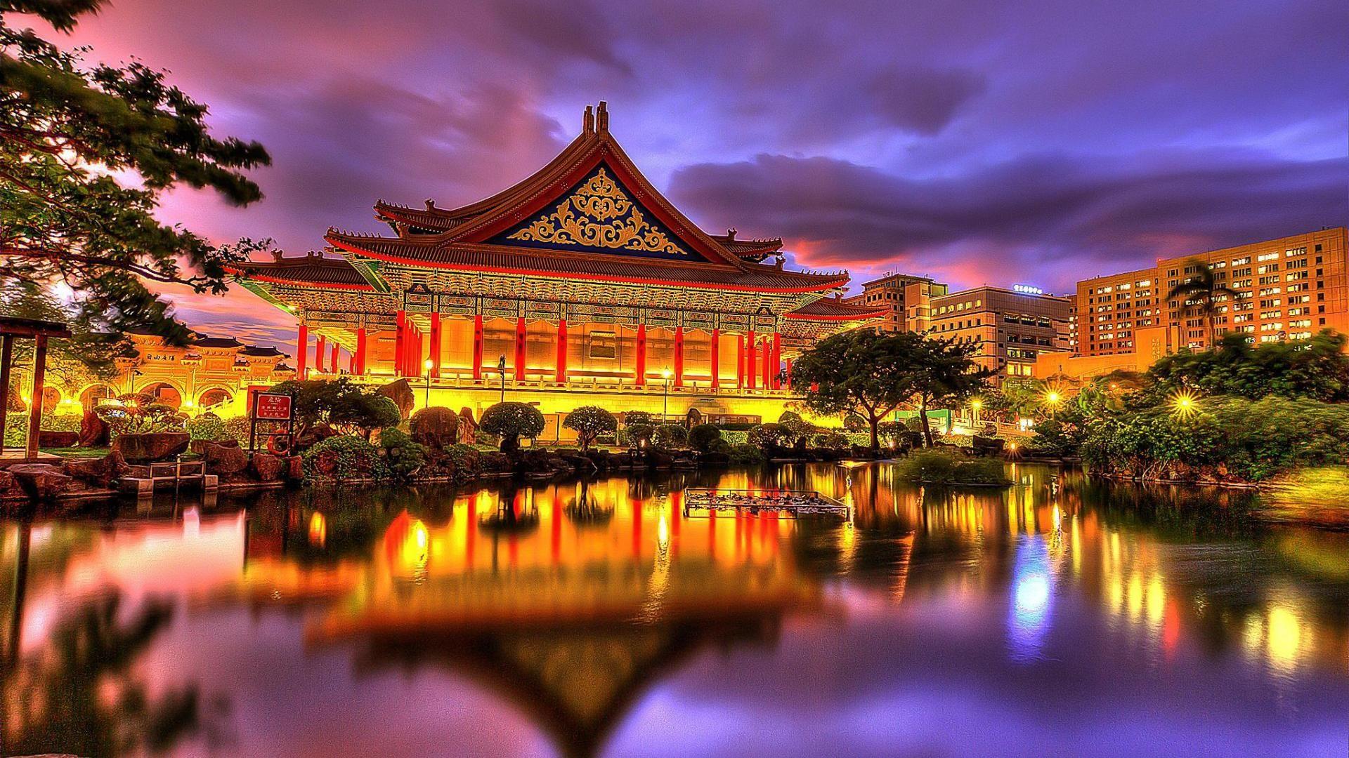 Oriental palace hdr hd desktop background wallpaper free for Oriental wallpaper