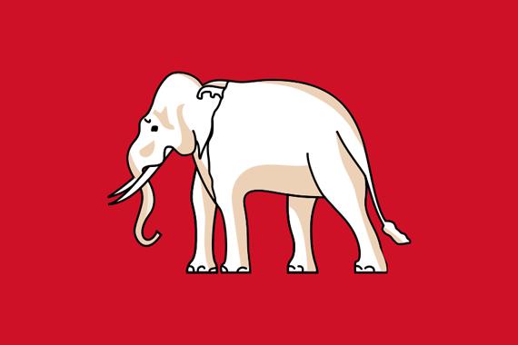 Old Flag Thailand Thailand Flag Flag Elephant