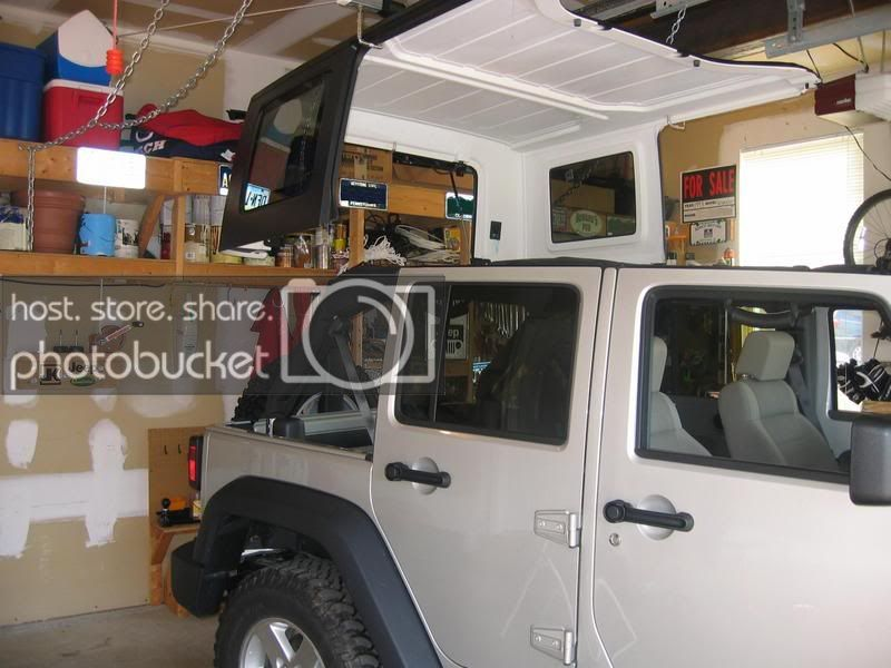 Hardtop Hoist Storage Write Up Jk Forum Com The Top Destination For Jeep Jk And Jl Wrangler News Rumors And Discussion With Images Jeep Hardtop Storage Jeep Jk Jeep