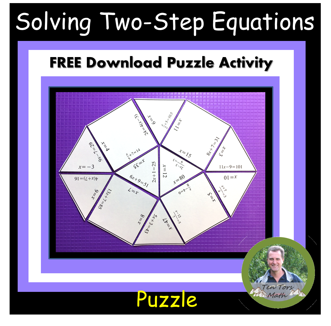 Solving Two Step Equations Puzzle With Images