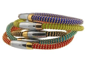 Elements Collection - Elements Collection Gold Fill Cotton Wrap Bracelet (Multi Color)
