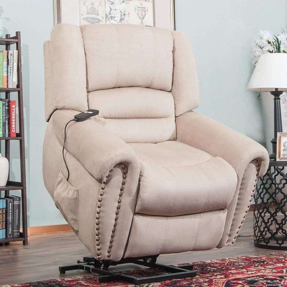 Lift Armchair Harper Bright Designs Beige Cloth Upholstery Recliner Power Lift