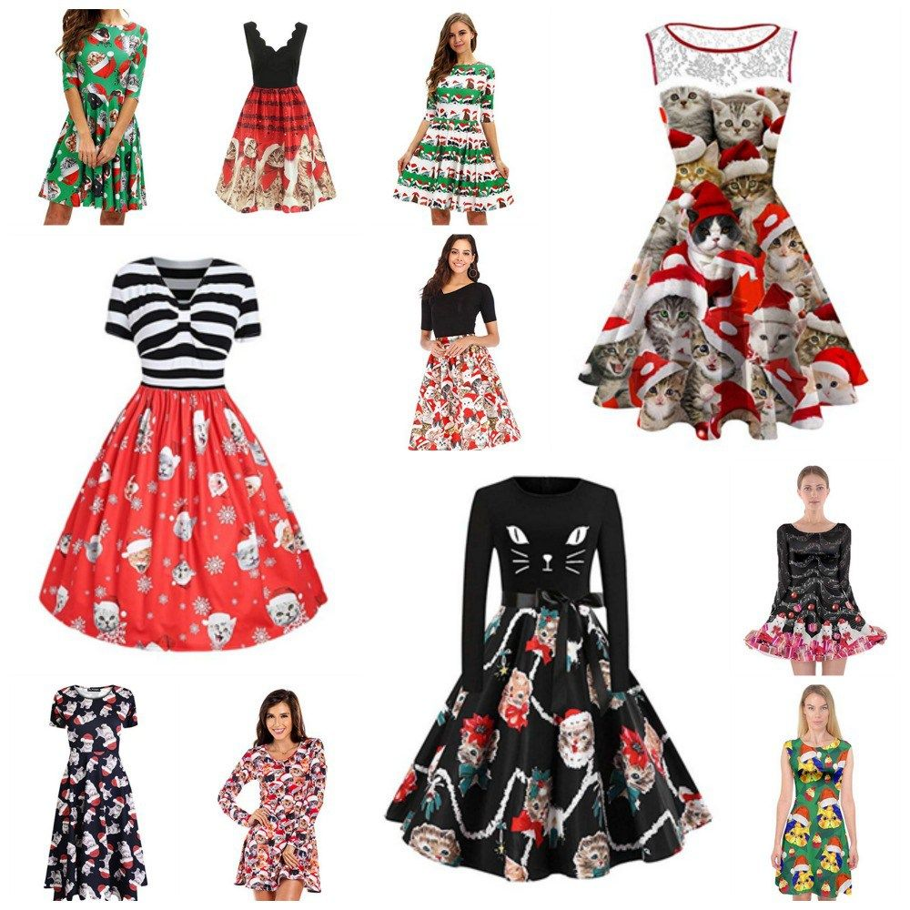 71ce4f0ef6b4 Fun And Fashionable Christmas Cat Dresses For Women Who Love Kitties!  #meowAF, #Catdress, #Catfashion, #Catlady, #Catmas, #Catmom, #Kittenmas, ...