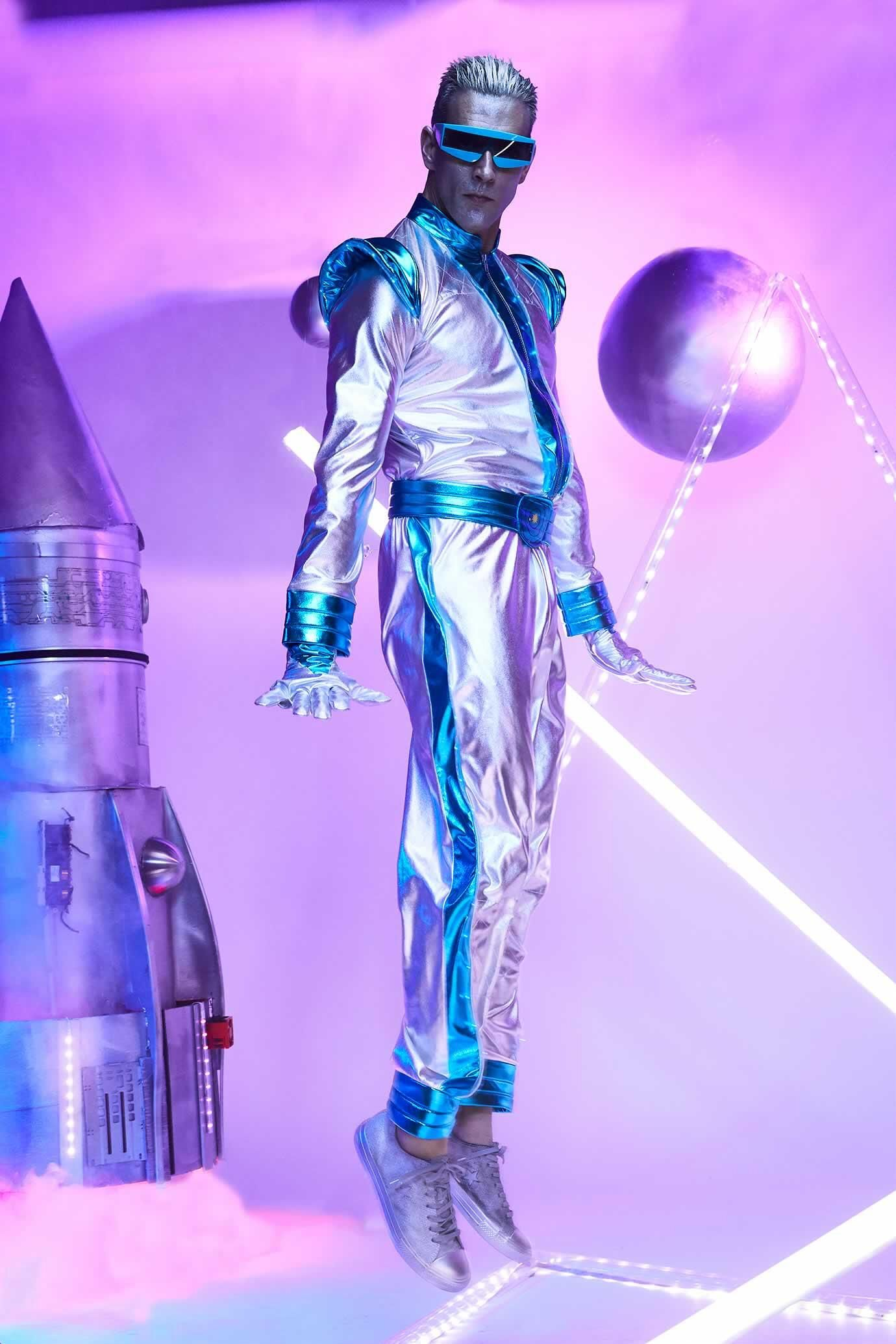 Lightup space suit costume for men space suit costume