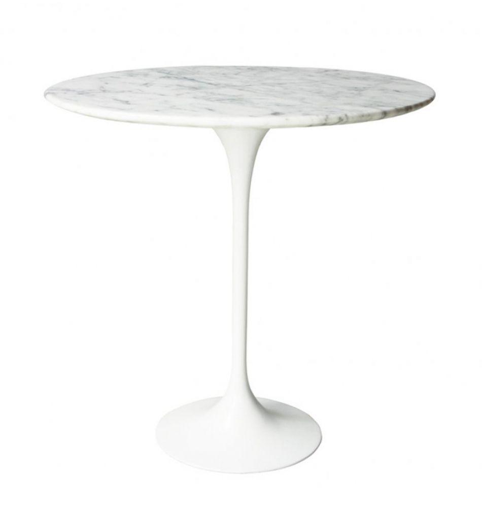 Replica Eero Saarinen Tulip Side Table White Marble Blau