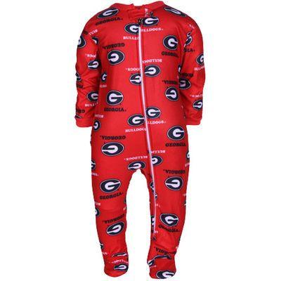 9ad3c4571 Georgia Bulldogs Infant Red Spirited Fleece Footed Sleeper