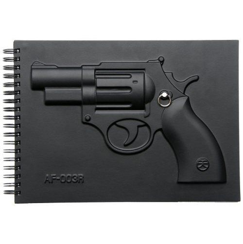 MollaSpace Armed Notbook, Revolver ($16.95)