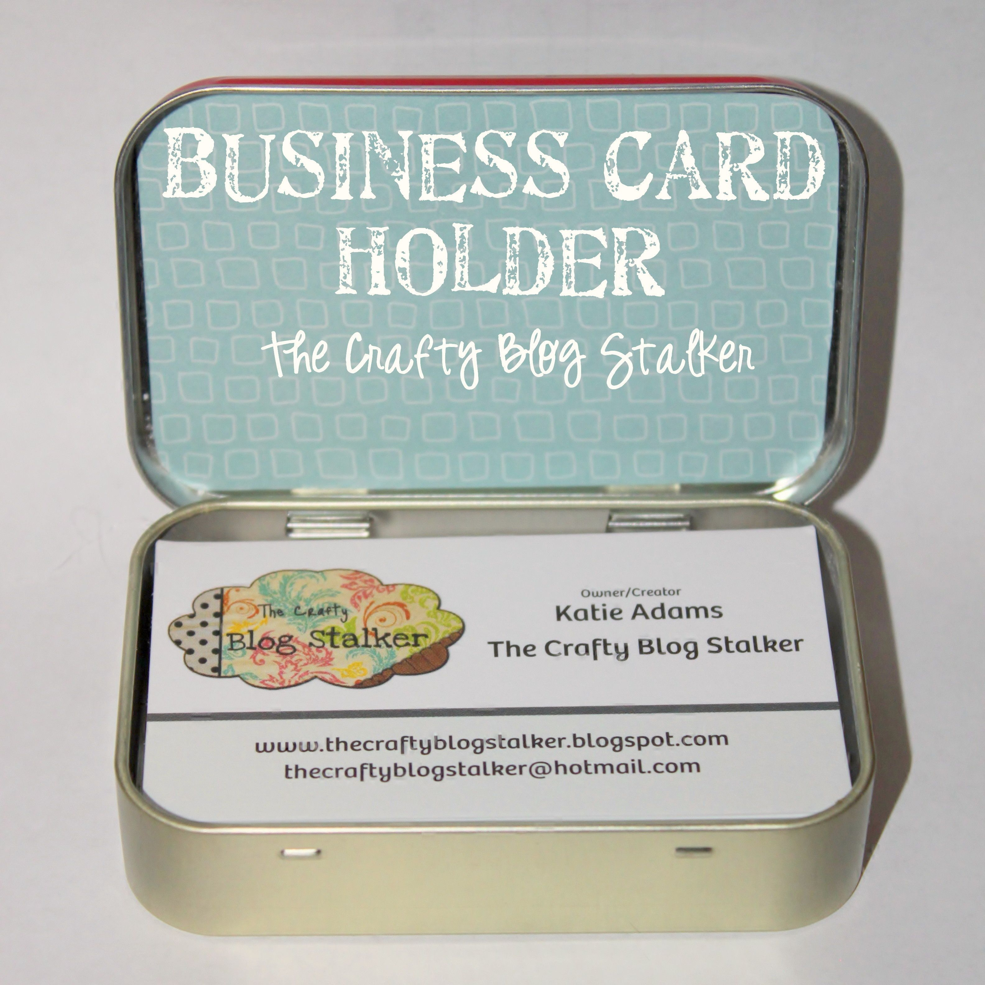 How to make business card holder with an altoids tin pinterest use an altoid tin to make a business card holder an easy diy craft tutorial idea that will keep your business cards nice and not bent reheart Gallery