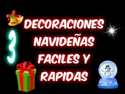 3 decoraciones navide as en 5 minutos f y r los for Adornos navidenos en 5 minutos