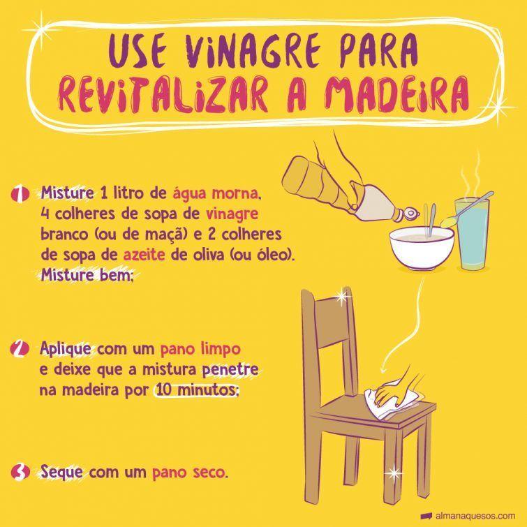 Para Revitalizar Moveis De Madeira Use Vinagre E Azeite Dicas