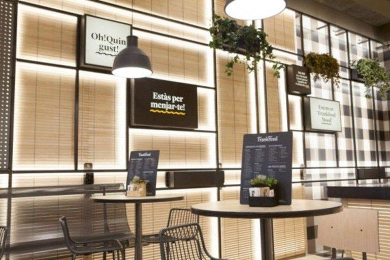35 Good Interior Decorating Ideas Using Natural Materials Restaurant Interior Design Resturant Design Food Court Design