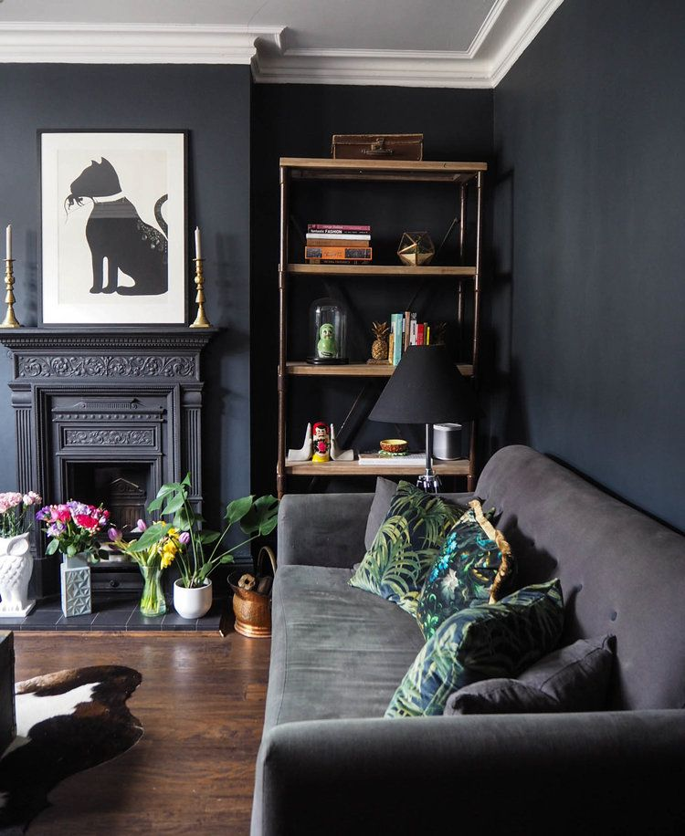 Delightful House Of Hackney Palmeral Cushions In My Dark Lounge.