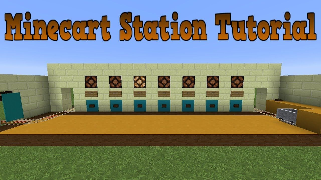 Minecraft 1 14 3 Compact Minecart Station Tutorial Redstone Discussion Youtube Minecraft Redstone Tutorial Minecraft Minecraft Redstone