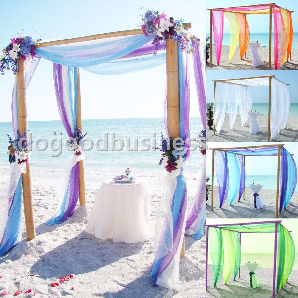 5m 10m Sheer Organza Fabric Beach Wedding Ceremony Bouquet: 5M/10M *1.45M Top Table Swags Sheer Organza Fabric DIY