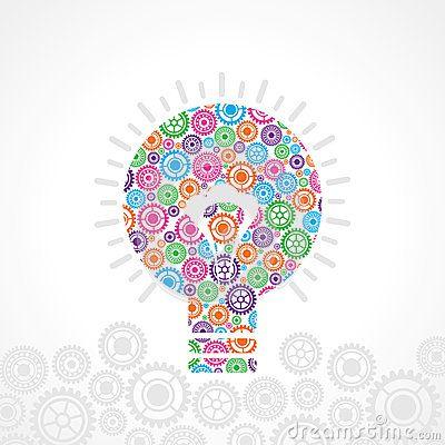 Group of gear make a bulb