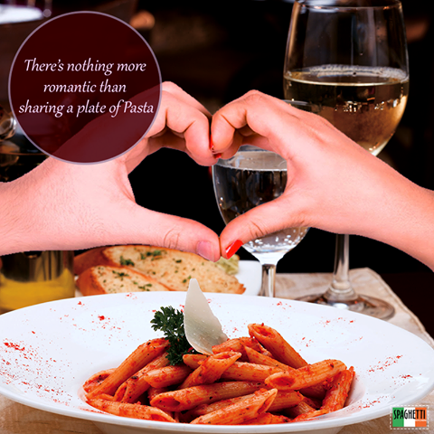 Valentine's Day is over. Love is NOT!  Love is ......sharing your favourite food ! #SpaghettiKitchen #ForumCourtyard