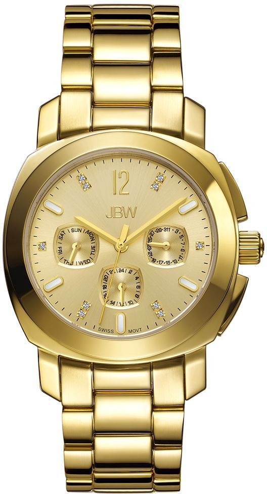 JBW Marigny For Women 10 Diamonds Gold Dial Stainless Steel