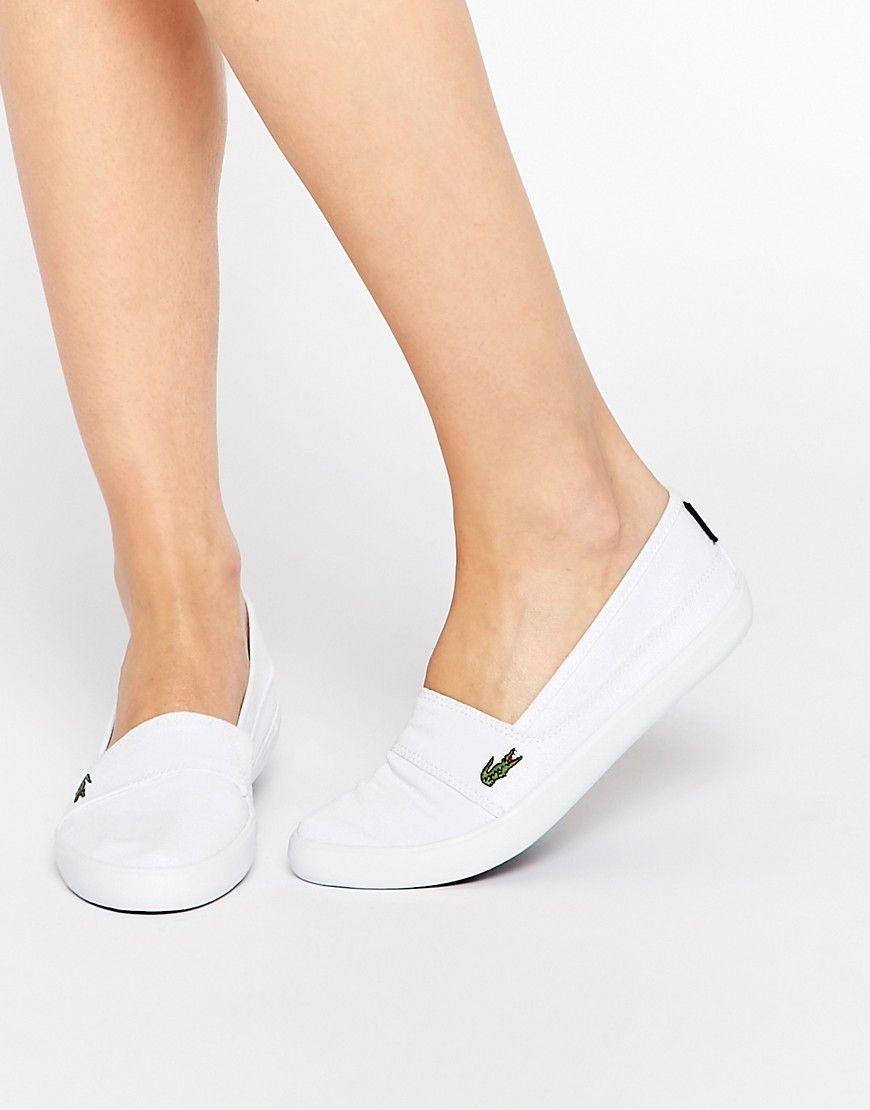 183c50694 Lacoste Marice LCR White Canvas Slip On Sneakers
