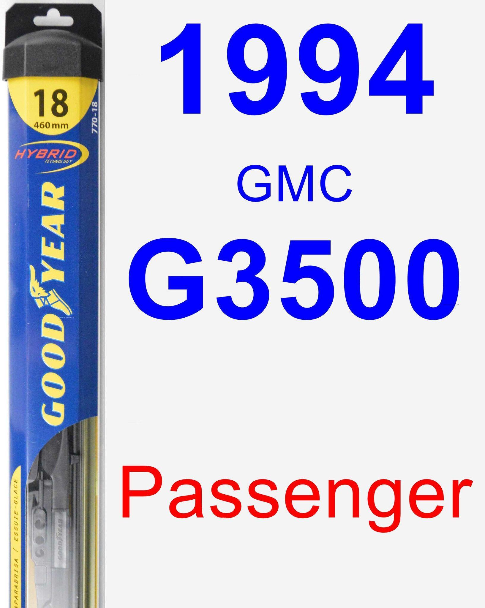 Passenger Wiper Blade for 1994 GMC G3500 - Hybrid