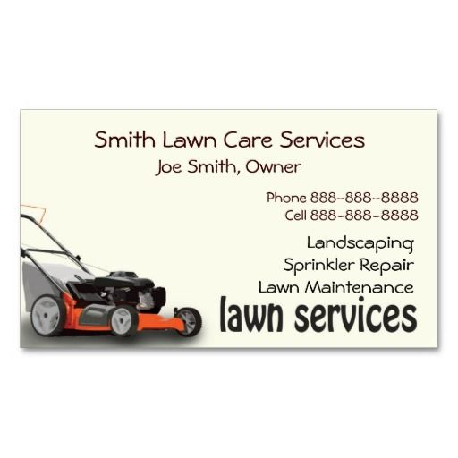 Lawn care landscaping services business card lawn care business lawn care landscaping services business card reheart Choice Image