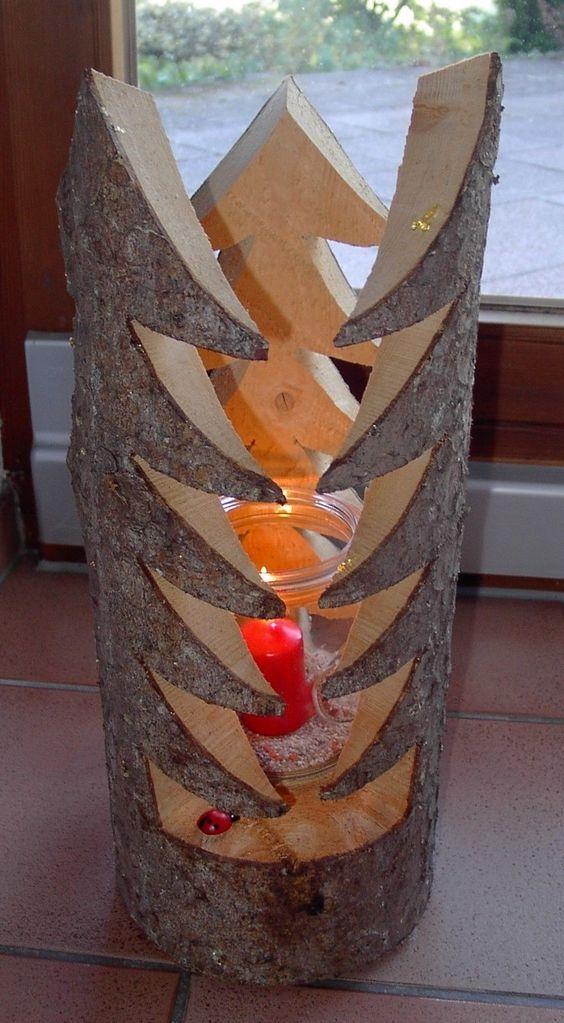 Met Boomstammen En Schijven Maak Je Hele Leuke Decoratiestukken Voor In Huis En In De Tuin Zelfmaak Ideetjes Holiday Stuff Pinterest Christmas Wood Ch