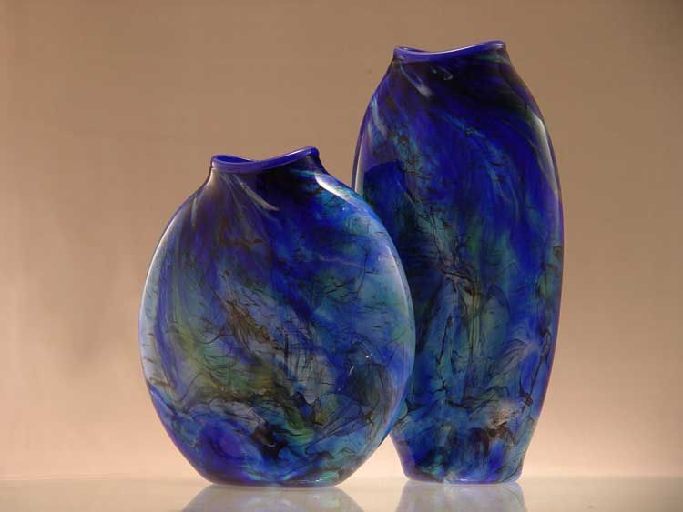 Lachausse Vases Range Blue Wide And Tall Relic Vases With