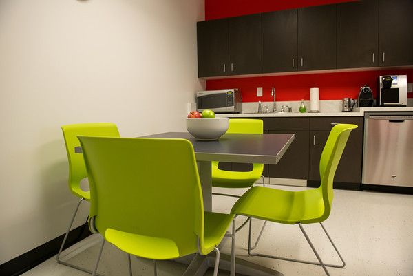 Awesome Break Room With HON Motivate Table And Chairs In Lime