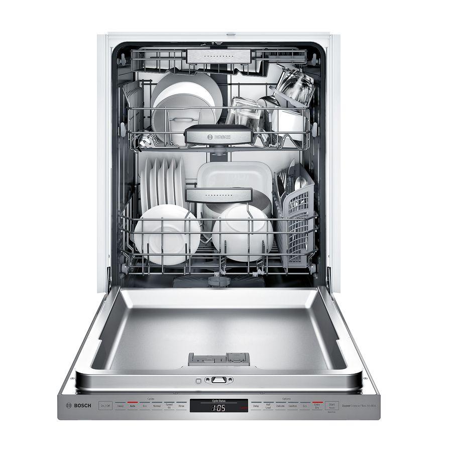 Bosch Myway Rack 800 39 Decibel Built In Dishwasher Sta Lowes Com Built In Dishwasher Steel Tub Bosch Dishwashers