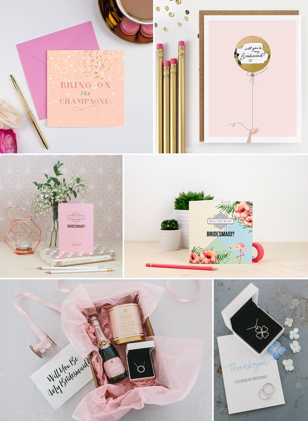 The Best Bridesmaids Gifts Ideas Thanks You Presents Uk Bridal