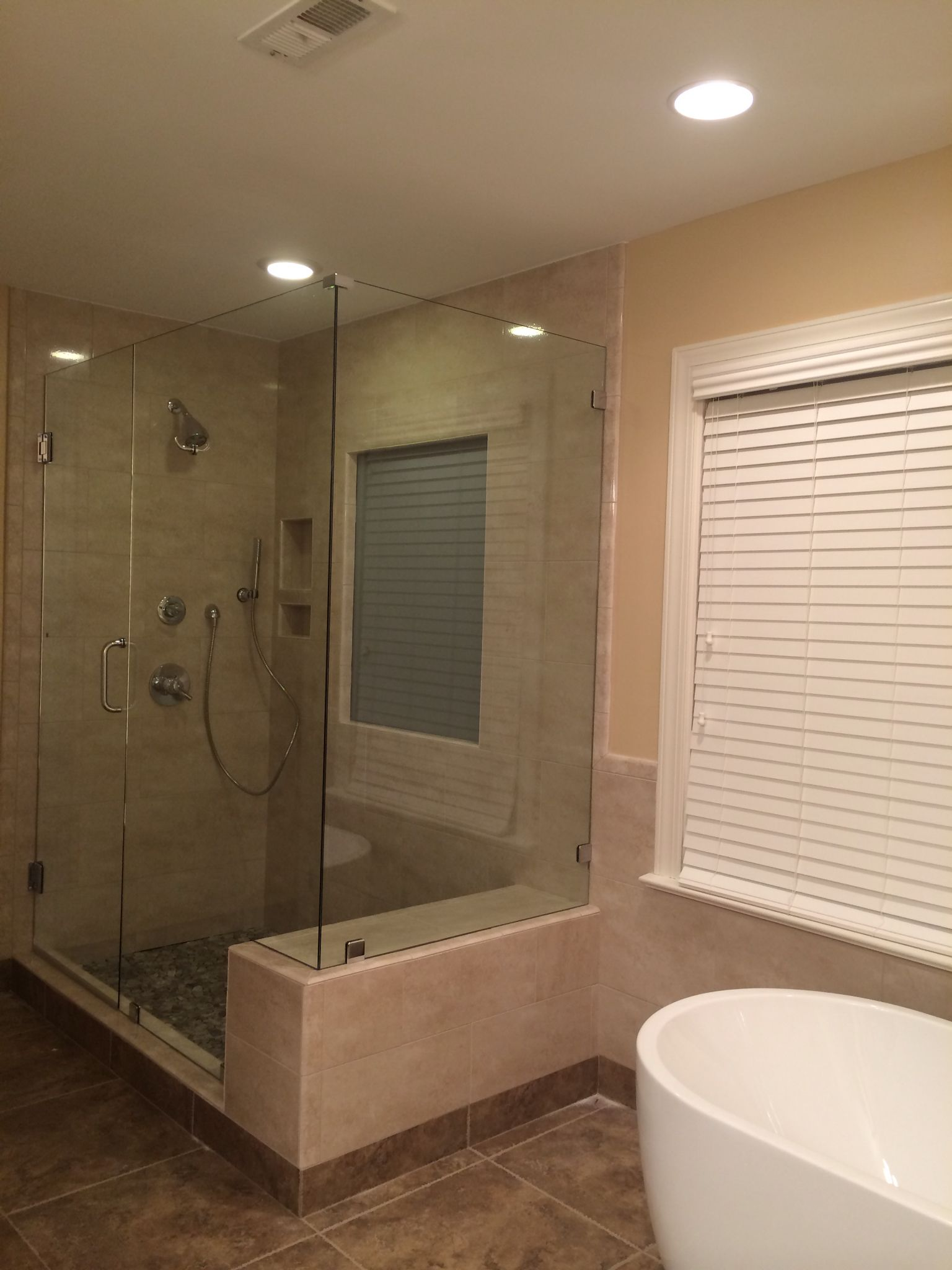 Corner Shower With Seat.Frameless 90 Degree Corner Shower With Built In Bench Seat