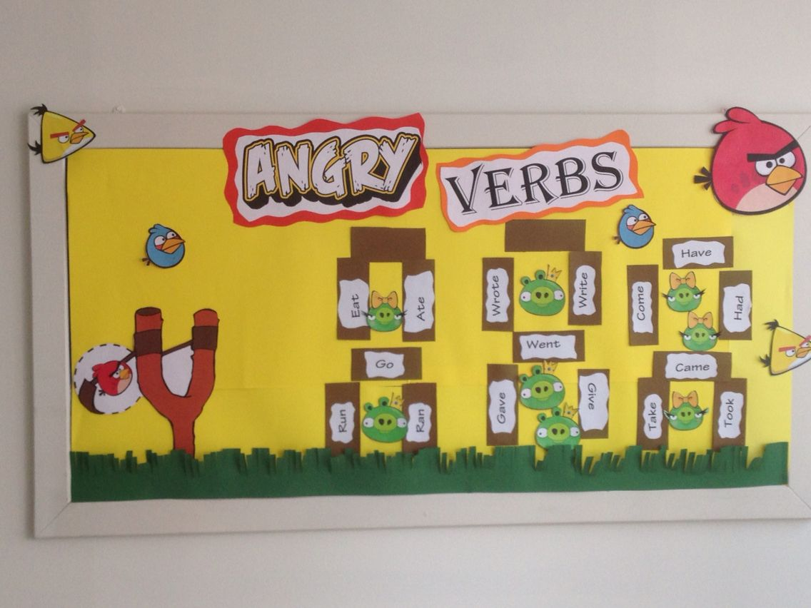 Simple past tense english bulletin board ideas | Education ...