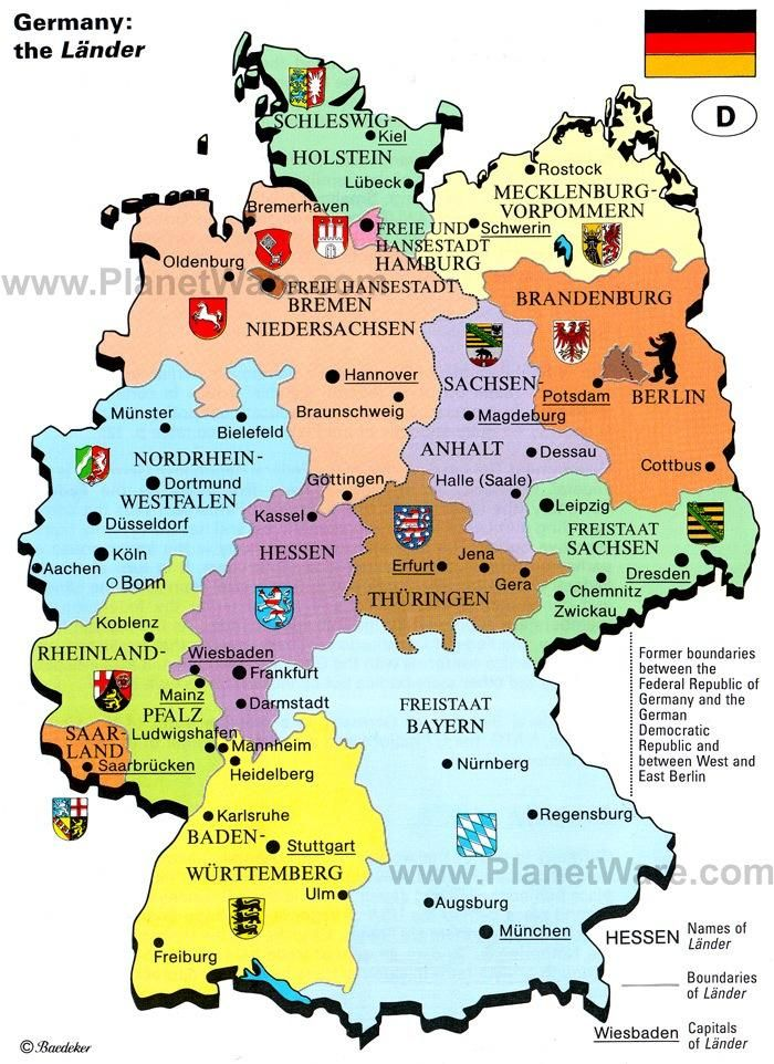 Schwerin Germany Attractions The German States And Capitals Auf: Map Of Germany With States And Capitals At Infoasik.co