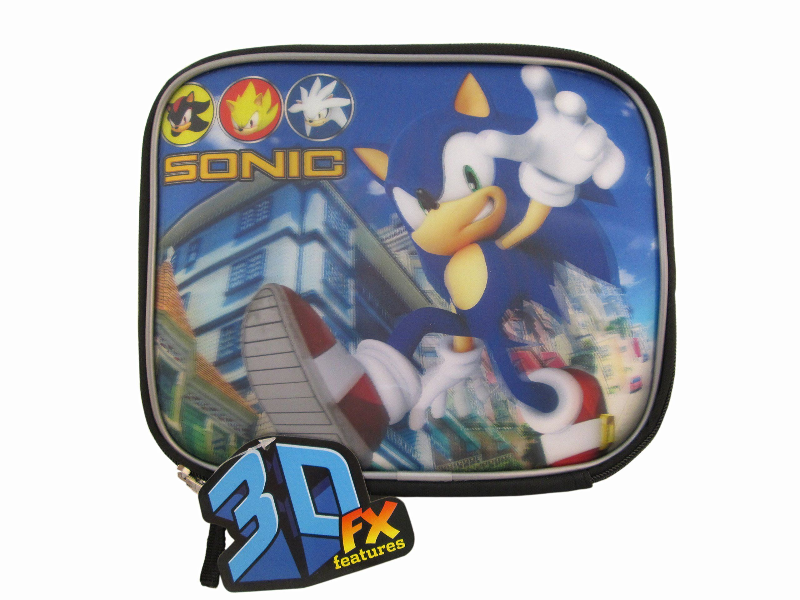 Sonic The Hedgehog Black Rectangular Lunch Box Boys Lunch Boxes Lunch Box Kids Lunchbox